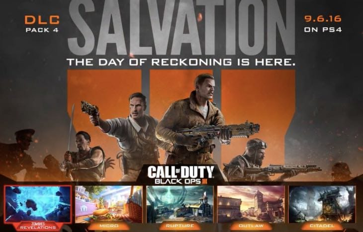 BO3 Salvation DLC 4 Release Time For Xbox One PC