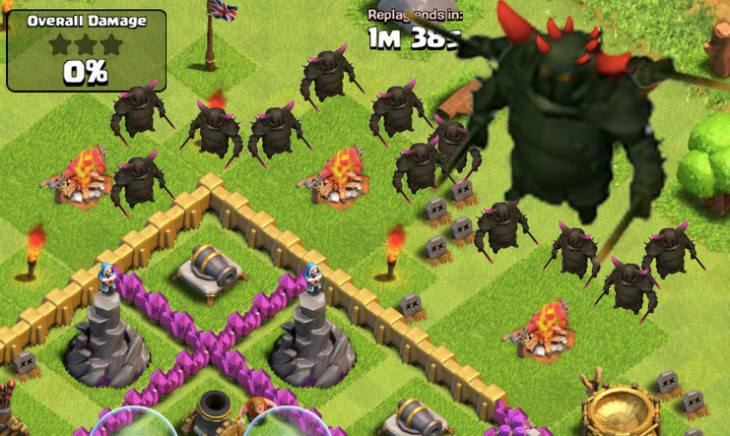 how to get easier opponents in clash of clans