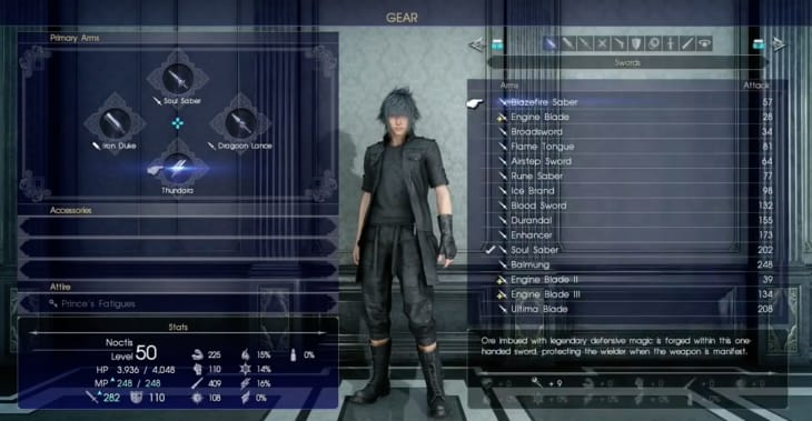 Final Fantasy XV Noctis Ultimate Weapon Leaked Early