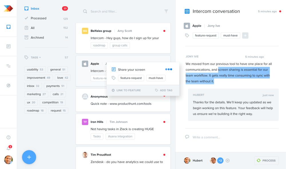 medium resolution of consolidate user research and feedback from many sources in one central repository in productboard