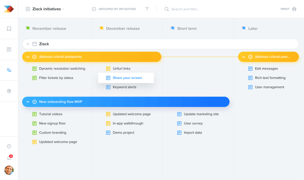 medium resolution of rally everyone around your roadmap in productboard
