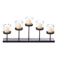 Pedestal Candle Centerpiece Holder Table Mantel Metal ...