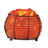 Natural Remedy Air Purifier Himalayan Salt Round Basket
