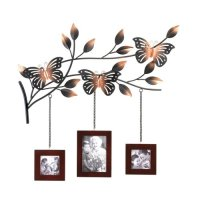 Metal Butterfly Tree Branch 3 Picture Photo Frame Wall Art ...