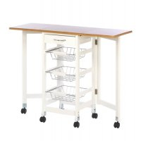 KITCHEN TROLLEY EXTENDED TABLE EXTRA WORK STATION 3 WIRE ...