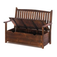 GARDEN GROVE WOODEN STORAGE BENCH PATIO GARDEN