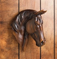 Chestnut Brown Horse Bust Wall Mount Western Rustic Home ...