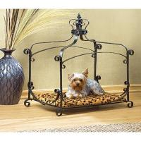 Royal Wrought Iron Small Pet Bed Dog Cat Kitten Canopy ...