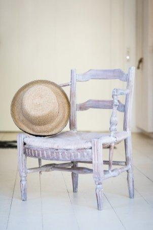 Chaise céruse