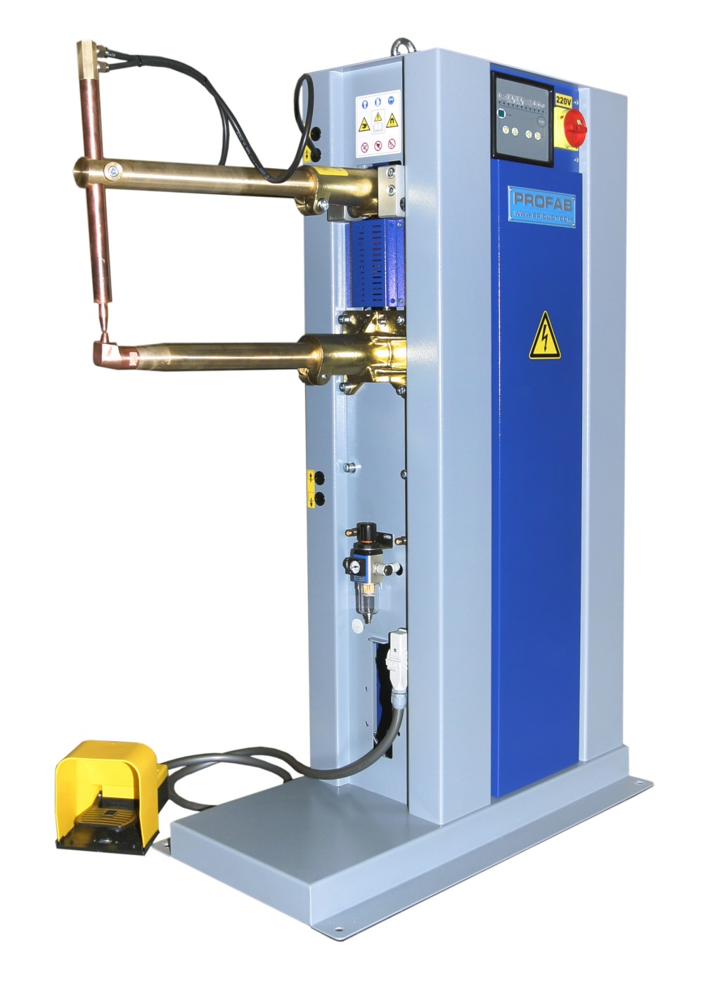 medium resolution of profab air operated fully automatic spot welder