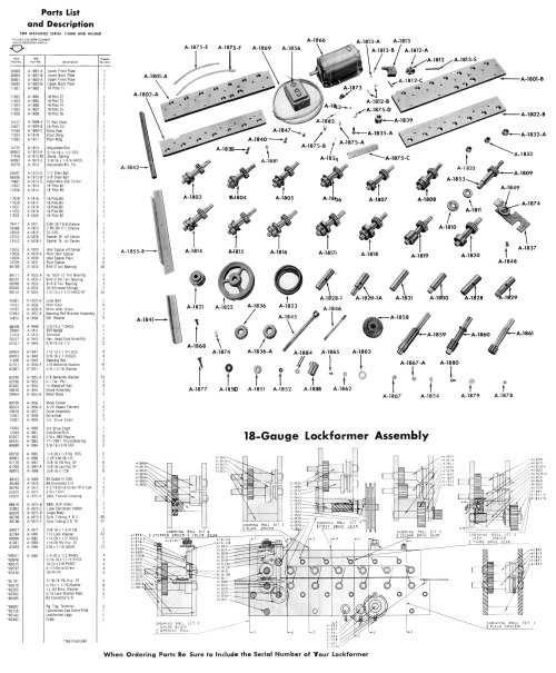 small resolution of lockformer machinery parts diagrams 16 gauge pittsburgh lockformer machinery parts diagrams model 8900 super speed cleatformer