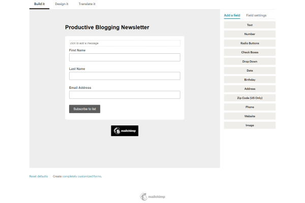 A beginners guide to Mailchimp