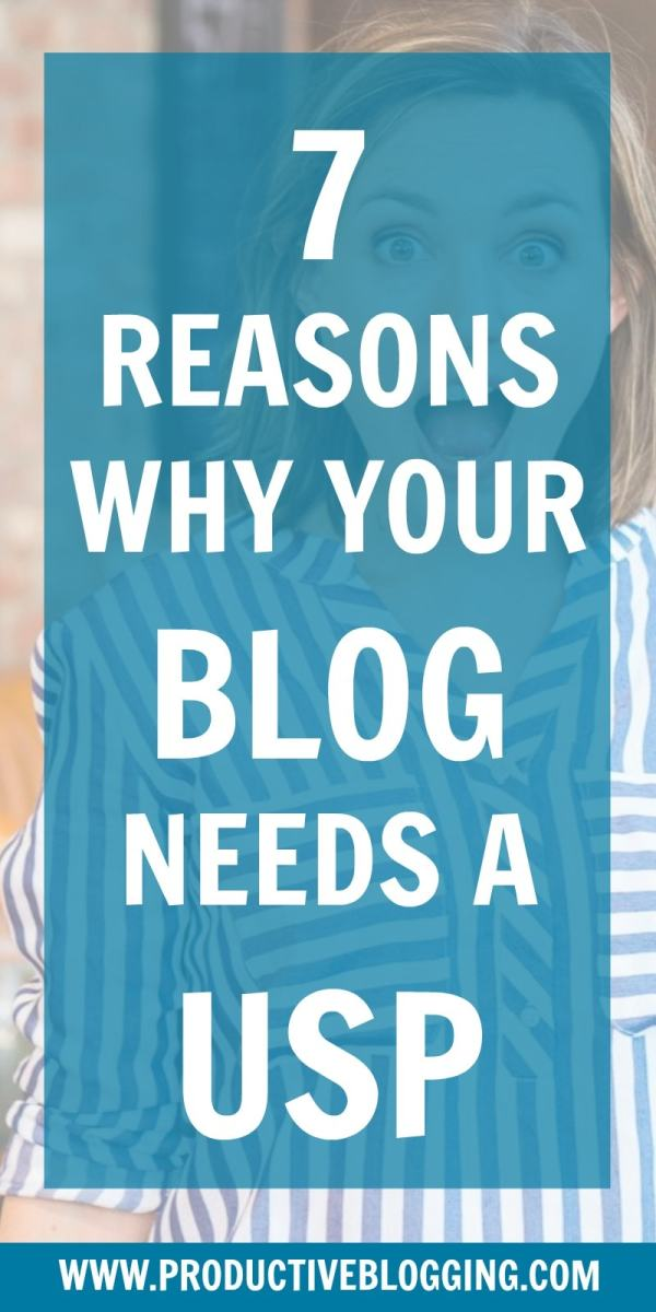 Niche, USP, point of difference… call it what you like but in today's crowded blogosphere you definitely need to stand out! Here are 7 reasons why your blog needs a USP. #niche #bloggingniche #blogniche #USP #blogUSP #standoutfromthecrowd #blogging #bloggers #bloggingtips #blogPR #tribe #community #bloggingcommunity #bloggingtribe #SEO #SEOtips #authority #productiveblogging