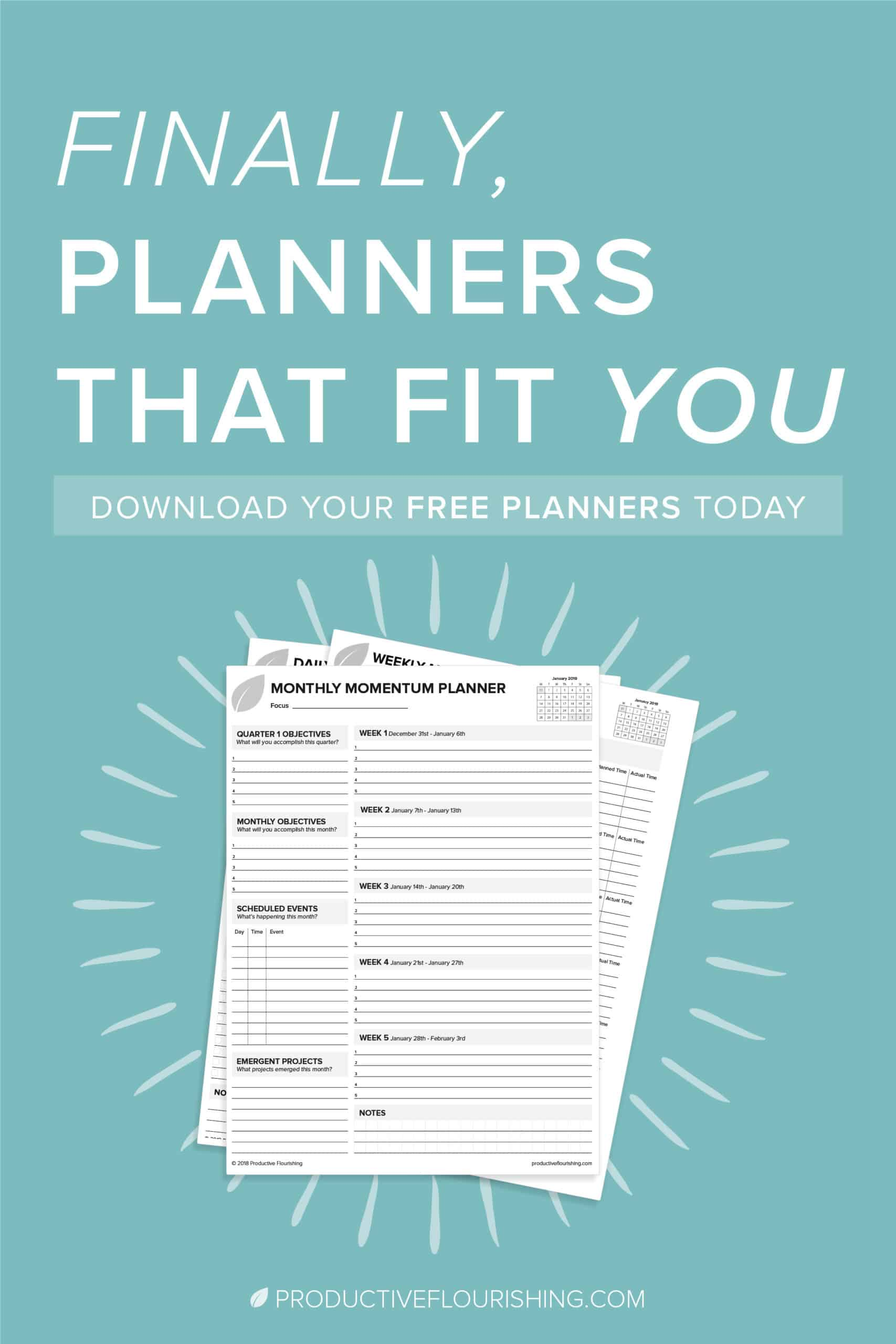 Free Planners Amp Productivity Worksheets