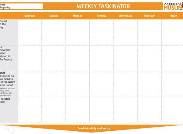 The Weekly Taskinator