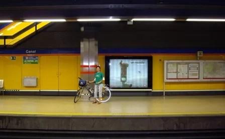 Biclicleta en el metro