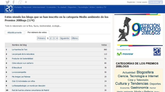 20 blogs medio ambiente