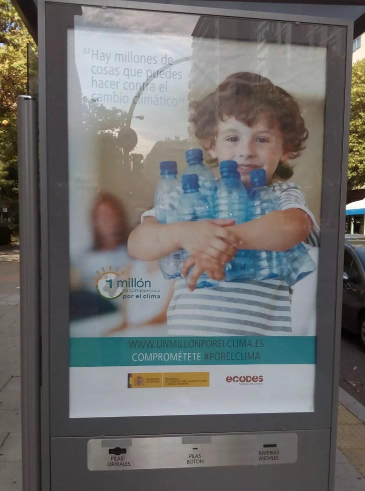 botellas por el clima