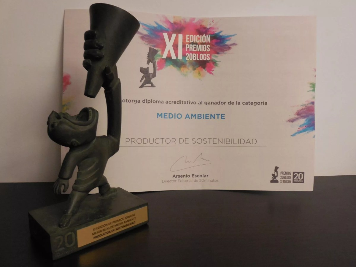 Premio 20 blogs al mejor blog de medio ambiente 2016