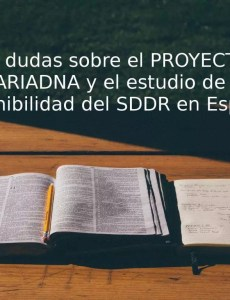 Dudas estudio ARIADNA ariadna sostenibilidad sddr