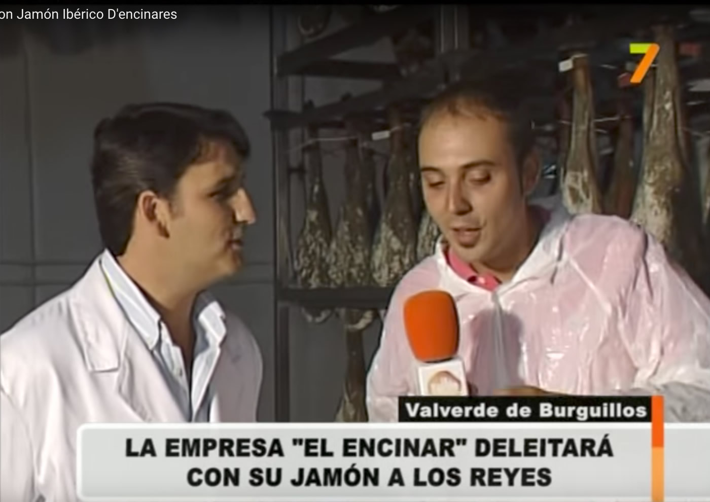 Jamón de Extremadura para los reyes de España