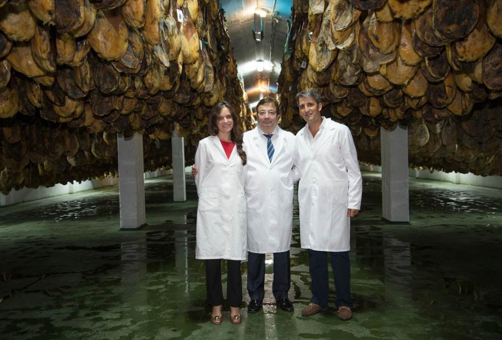 Presidente de Extremadura en Productos del Encinar