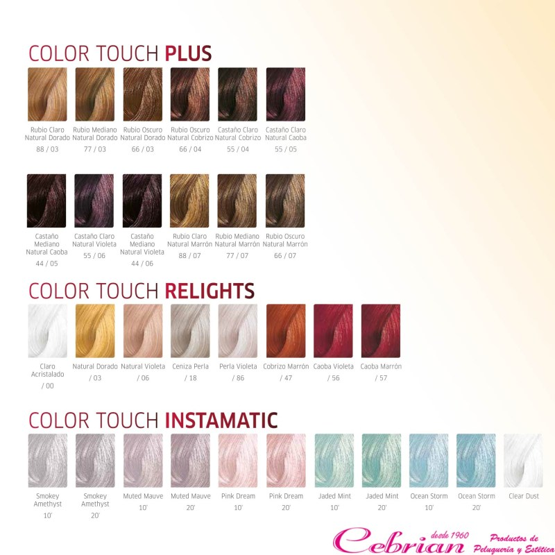 Color Touch Wella Color Chart Coloringsite