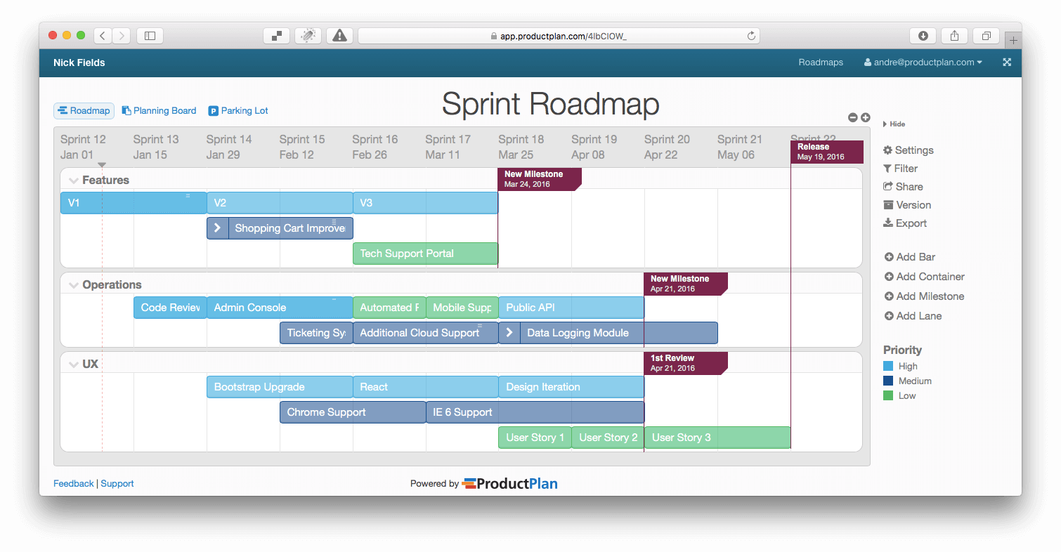 3 Example Roadmaps And Free Templates For Product Managers