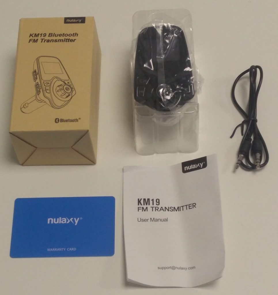 Nulaxy KM 19 Bluetooth FM Transmitter Unboxing
