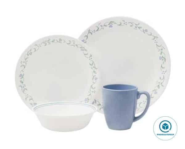 Corelle Livingware 16-Piece White Dinnerware Set, Country Cottage, Service for 4