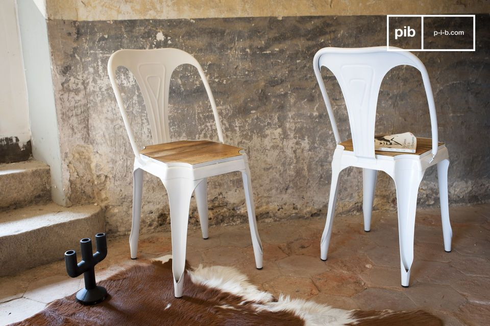 chaise multipl s blanche bois