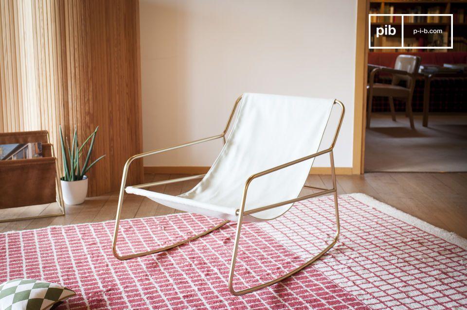 fauteuil a bascule scandinave lund
