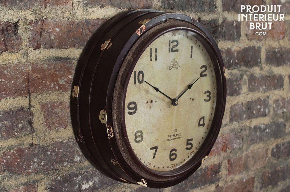 Horloge Wood Factory Horloge Datelier En Bois Peint Et