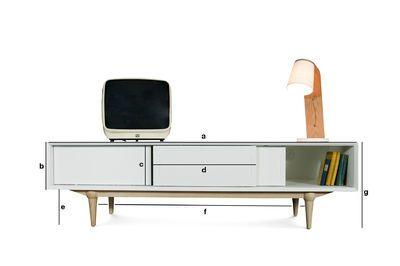 meuble tv scandinave fjord