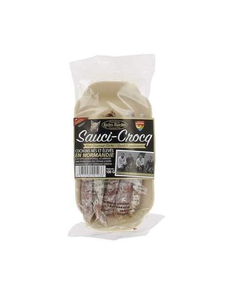 saucicroq mini saucisse seche pur porc 100g