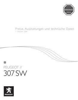peugeot 307 sw technische daten in Peugeot 307 SW