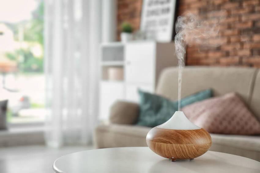 luftbefeuchter dampfausstoß wohnzimmer