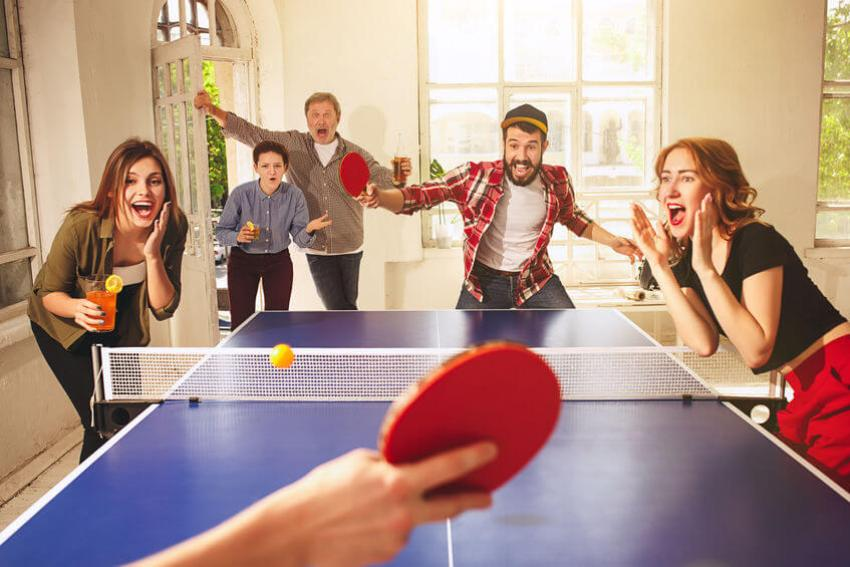 ping pong familienspaß