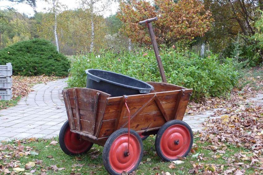 gartenarbeit handwagen