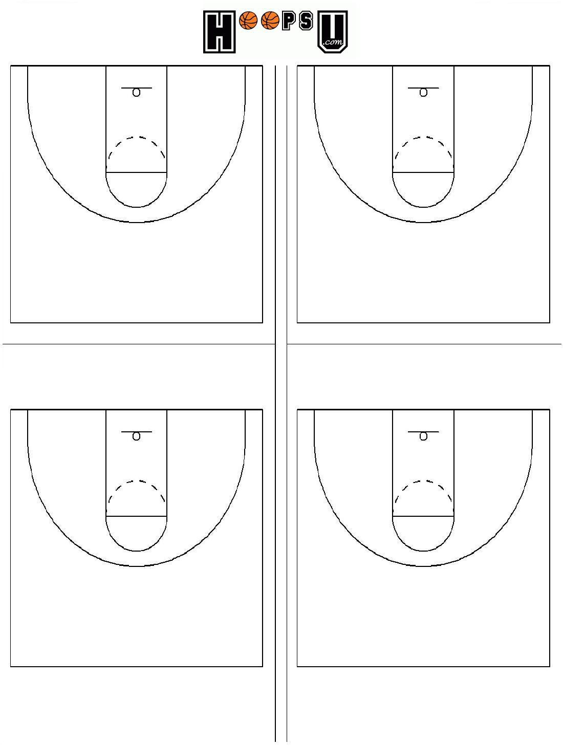 Blank Printable Basketball Diagram