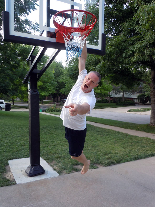 Pro Dunk Silver Basketball System