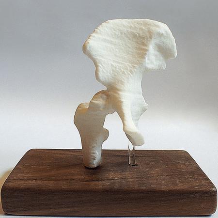 protótipo de uma bacia impressa em 3D