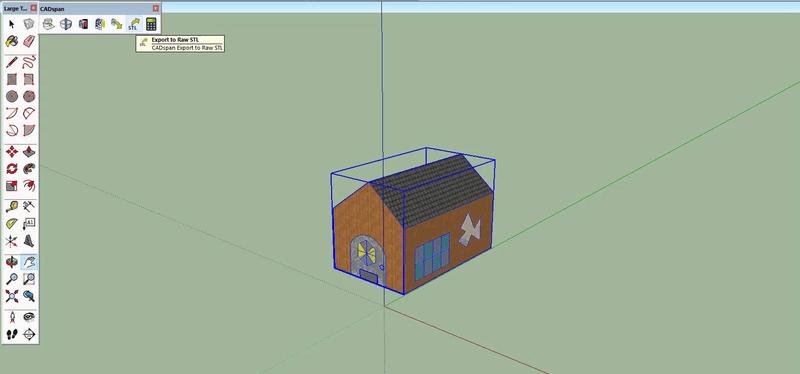 Print do SketchUp, programa de modelagem para impressão 3D