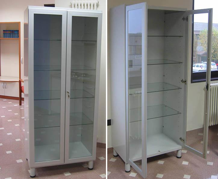 Produzione vendita armadi metallici con ante vetro o