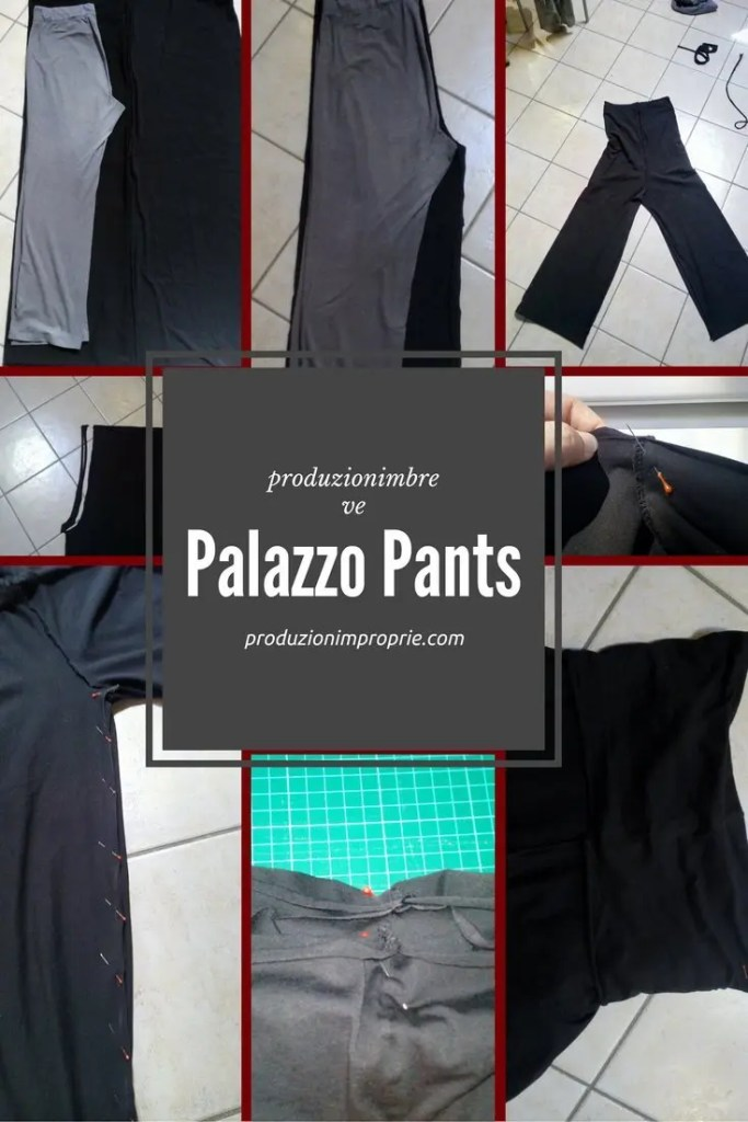 palazzo pants tutorial cucito