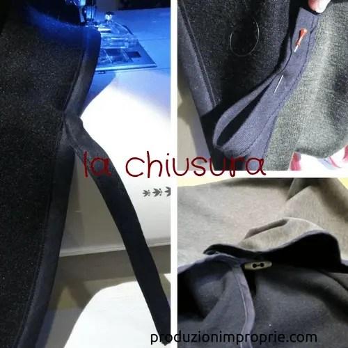 chiusura della giacca circolare asola e alamaro