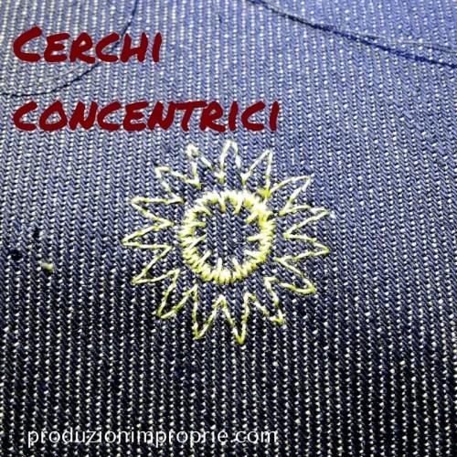 flower stitch cerchi concentrici