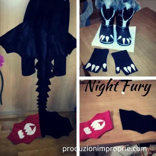 costume di carnevale furia buia