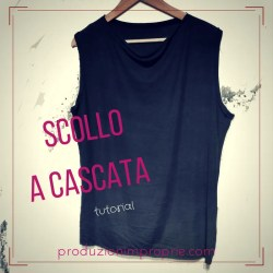 top scollo a cascata blog di cucito tutorial