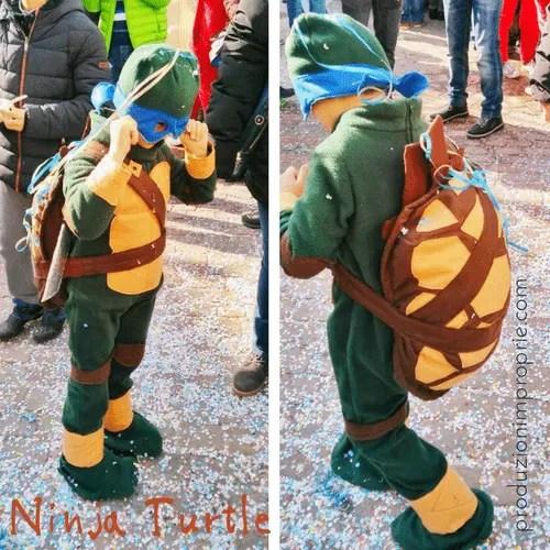costume di carnevale ninja turtle